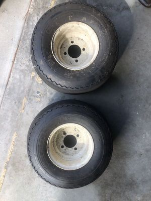 Golf Cart Tires & Rims - Used (good for spares, $25 for both) for Sale in St. Cloud, FL