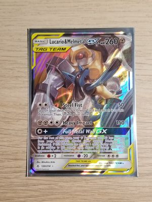 Lucario & Melmetal GX Tag Team, Pokemon card, Mint Sleeved for Sale in Elk Grove, CA