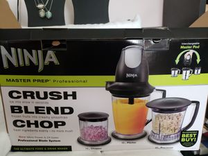 Ninja Food Processer Blender Chopper 450W Pulse Shakes Smoothies Chopper Bowl for Sale in Columbus, OH