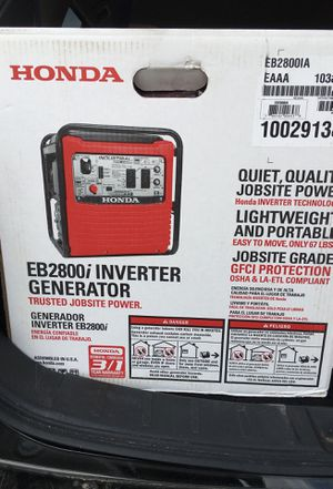 Honda EB2800i inverter generator for Sale in Denver, CO