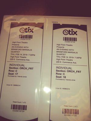 Jazz Concert Tickets for Sale in Durham, NC