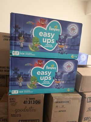 Boys Only Pampers Easy Ups Pull-ups ONLY Size 4t-5t (2) 104 count boxes PICK UP ONLY for Sale in Washington, DC