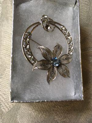 Vintage Sterling Silver Filigree Brooch for Sale in Fond du Lac, WI