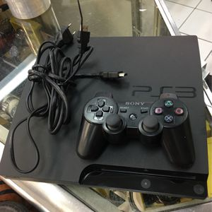 Sony PlayStation 3 PS3 Slim 320gb Video Game Console With Controller And Cables for Sale in Orlando, FL