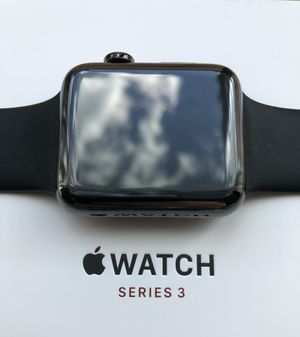 Apple Watch 42 mm Series 3 Stainless Steel Space Black AppleCare + for Sale in Portland, OR