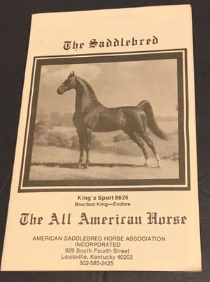 "Wonderful ""The Saddlebred-The All American Horse"" Booklet for Sale in Okatie, SC"