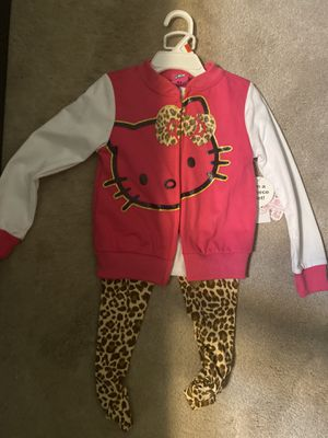 Hello kitty 3 piece set 4t with tags for Sale in Clifton, NJ