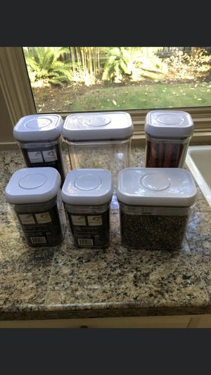 $83 for all 10 OXO Good Grips® Food Storage Pop Containers for Sale in Tacoma, WA