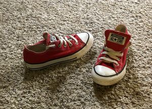 Red Converse All Star sneakers Size 13 Toddlers for Sale in Durham, NC