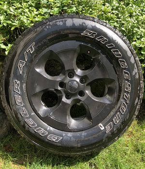 Original Jeep tires and wheels. All in wonderful condition. A set of 5 P255/70R18. Asking $800 for Sale in New Rochelle, NY