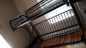 Metal bunk bed queen under twin for Sale in Aurora, IL