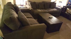 Couches and end tables. Plus dining room 6 person table. for Sale in Seattle, WA