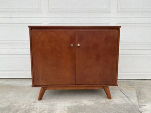 Buffet table cabinet two door one shelves Antique modern look for Sale in Fountain Valley, CA