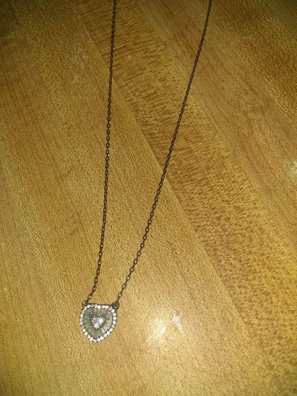 Heart dia. 925 necklace