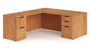 Wooden L shaped office desk for Sale in Golden, CO