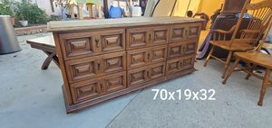 Vintage farmhouse distressed mcm mid century dresser drexel for Sale in Garden Grove, CA