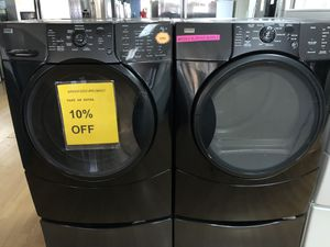 Kenmore black front load washer Anne dryer set for Sale in Woodbridge, VA