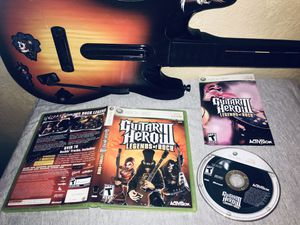 Xbox 360 Wireless Guitar Hero 3 Red Octane 95457 Sunburst Controller & Guitar Hero 3 Game Complete for Sale in Calimesa, CA