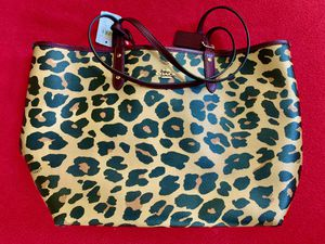 Coach Leopard City Tote - Brand New for Sale in Closter, NJ