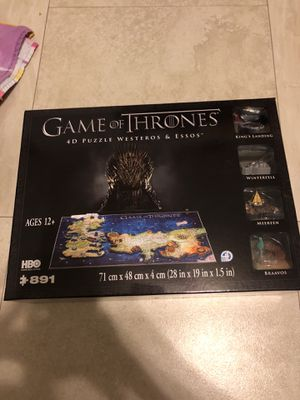 Game of Thrones 4d Puzzle for Sale in Miami, FL