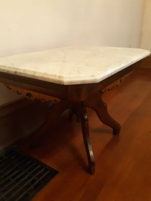 Antique Eastlake Style Walnut Table With Marble Top for Sale in Columbus, OH