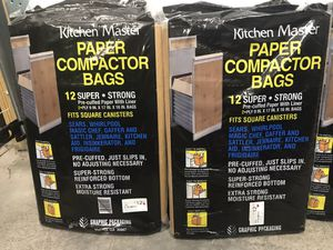 Kitchen Master Compactor Bags 12pk. I have 8pks $20 for all You Must Pickup for Sale in New Ringgold, PA