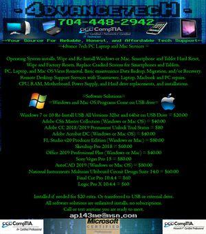 Mac @ Windows for Sale in Charlotte, NC