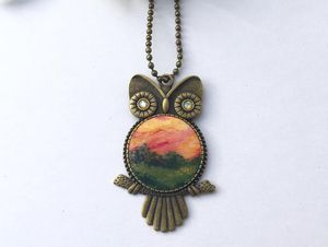 Handmade, one of a kind owl necklace for Sale in Falls Church, VA