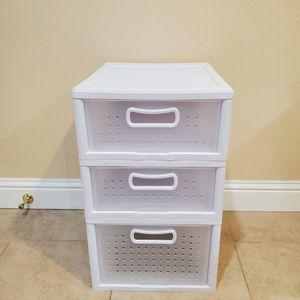 Sterilite 3-Drawer Cart, White for Sale in Hayward, CA