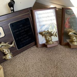 Three fishing Trophy plaques for Sale in Huntington Beach, CA