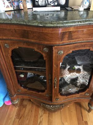 Antique Cabinet with Marble Top for Sale in Hicksville, NY