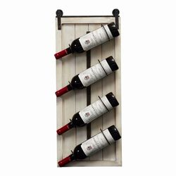 Kinbor Set of 2 Wood Wine Rack Wall Mounted for Wall Rustic White for Sale in South Gate,  CA