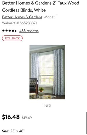 Homes and gardens 2 inch faux blinds for Sale in El Mirage, AZ