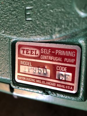 TEEL centrifugal pump self priming for Sale in San Diego, CA