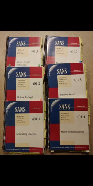 SANS Security Essentials 401 for Sale in Kennewick, WA
