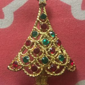 Vintage Gold Christmas Tree Brooch for Sale in Midlothian, VA