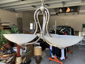 Brushed nickel light fixture for Sale in Odessa, FL