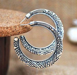 Vintage 925 Sterling Silver/Black Taiyin Hoop Earrings for Sale in Wichita, KS