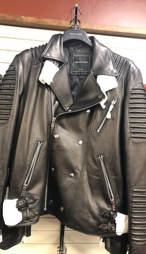 Men's leather motorcycle jacket for Sale in Huntingdon Valley, PA