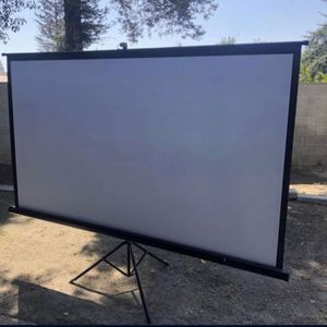TaoTronics Projector Screen with Stand,Indoor Outdoor PVC Projection Screen 4K HD 100'' inches 16: 9 brand new in box Asking 110 for Sale in Bakersfield, CA