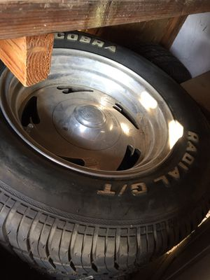 Center line Rims with new tires for Sale in Madera, CA