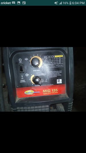 Northern Industrial Mig 135 welder for Sale in Clear Lake Shores, TX