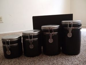 Decorative Black Kitchen Canisters for Sale in Salt Lake City, UT