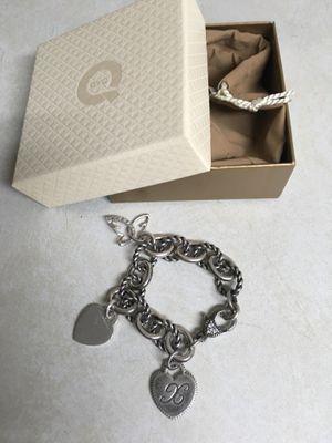 Judith Ripka heart charm bracelet w/Tiffany charm for Sale in Scottsdale, AZ