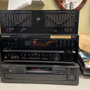 Pioneer Receiver, Stereo Equalizer, Kenwood Compact Disc Carousel And 2 Boston Tower Speakers for Sale in Los Angeles, CA