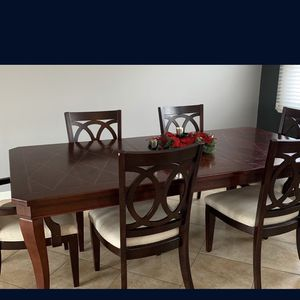 Harlem Furniture 7 Piece Dining Set With Buffet Table for Sale in Arlington Heights, IL