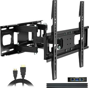 Full motion. Swiveling, tv wall mount 22 to 60 inch .. new in box with FREE HDMI CABLE AND LEVELER!! .... NEW IN BOX for Sale in Plano, TX