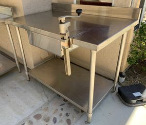 Stainless Steel Work Tables with Undershelf , Drawer & Can Opener for Sale in San Diego, CA
