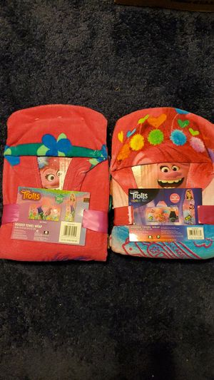 Trolls hooded towel wrap for Sale in Dover, PA