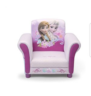 Upholstered Chair Kids Children Frozen NEW Elsa Anna Olaf Pink Girls for Sale in Los Angeles, CA